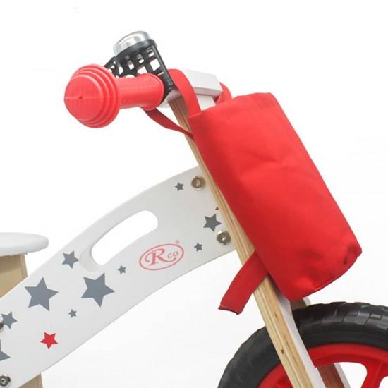 Bicicleta din lemn fara pedale White