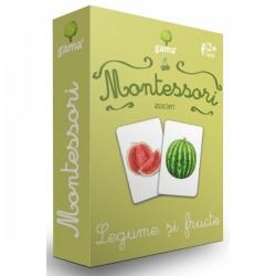 Carti de joc Montessori - Legume şi fructe