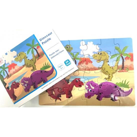 Puzzle 24 piese  Dinozauri
