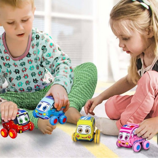 Set 4 Mașini din material textil