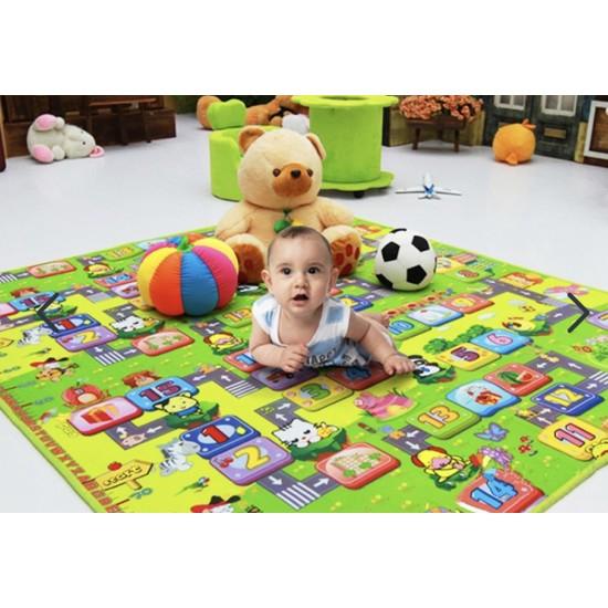 Covor de jucat pentru copii - cu doua fete - 180x200cm