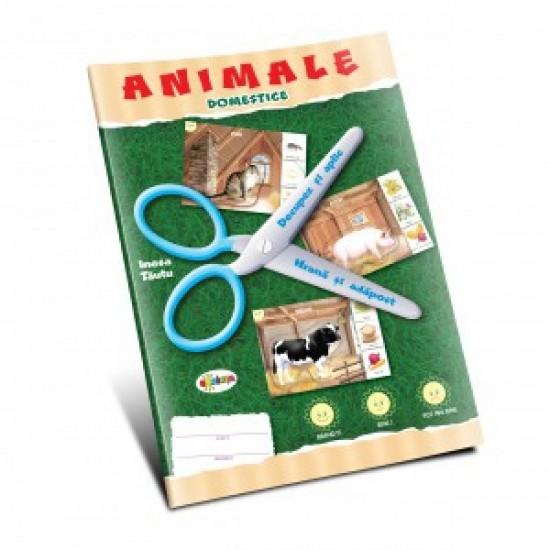 Mapa - Animale domestice - Decupez si aplic