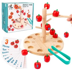 Joc Montessori din lemn - Copacul cu mere