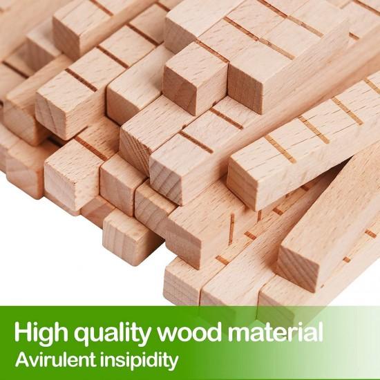 Joc educativ STEM cu bete din lemn Kabi
