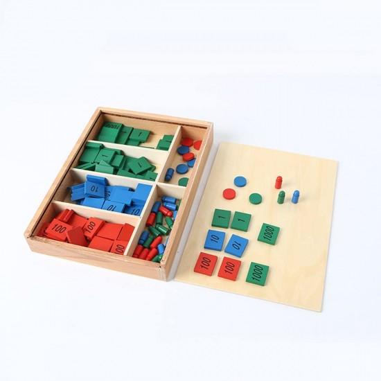 Joc din lemn Montessori Stamp Game