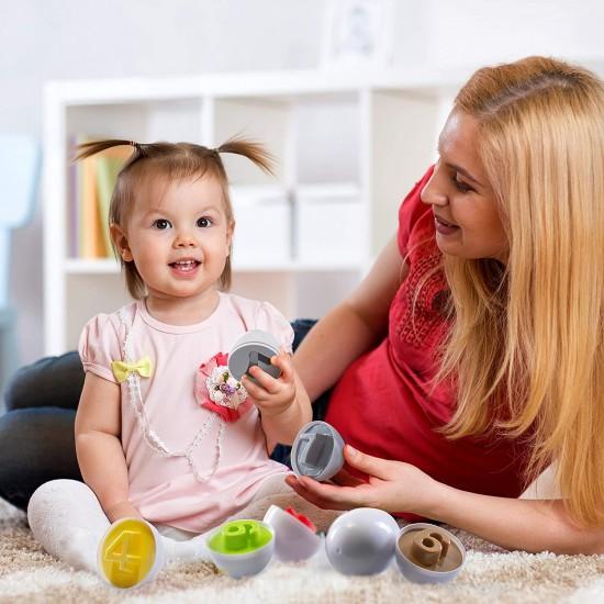 Joc Montessori de indemanare cu cifre - Matching Eggs