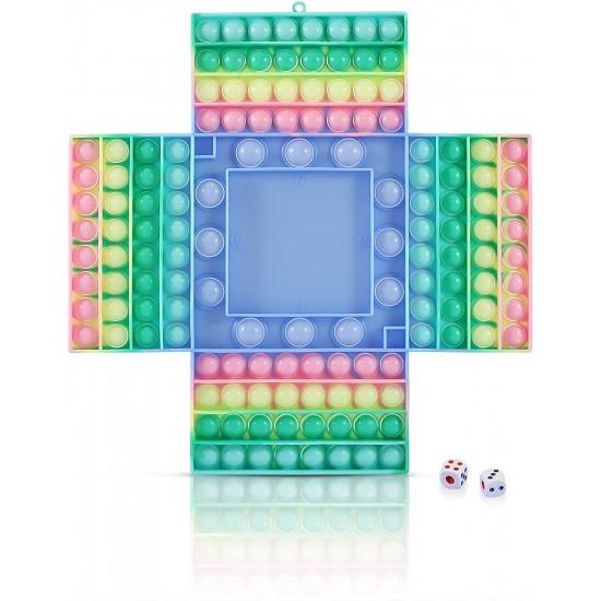 Boardgame Pop it din silicon cu zaruri