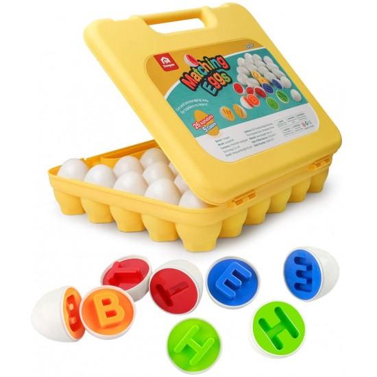 Joc Montessori de potrivire cu litere - Matching Eggs