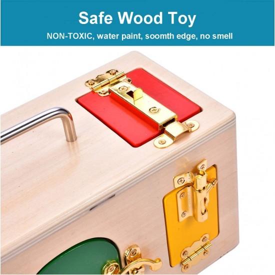 Cutie Montessori din lemn Incuie Descuie