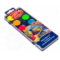 Acuarele ArtBerry Neon cu protecție UV, 12 culori