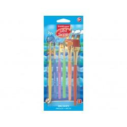 Set pensule ArtBerry din păr sintetic, 6 buc
