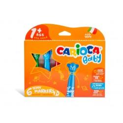 Carioca Baby 6 culori 1an+