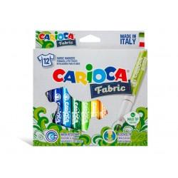 Carioca pentru textile Fabric 12/set
