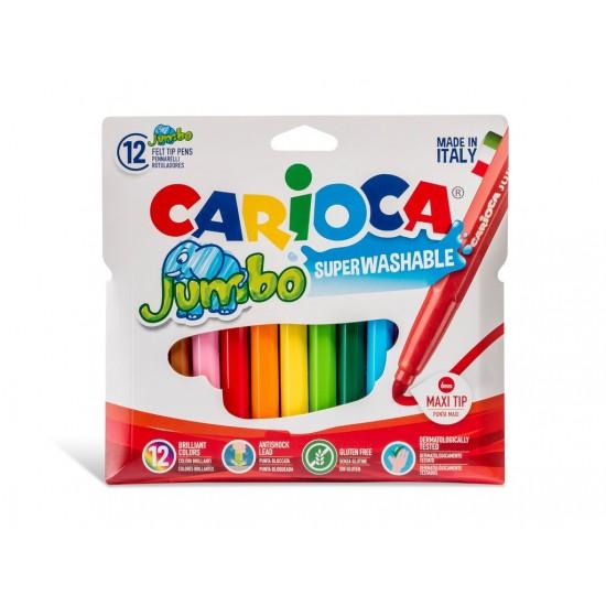 Carioca Jumbo - lavabila - 12 culori/set