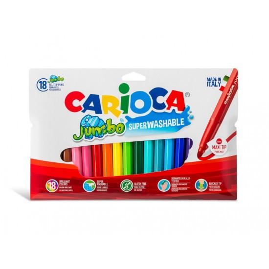 Carioca Jumbo - lavabila - 18 culori/set