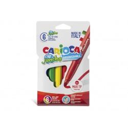 Carioca Jumbo - lavabila - 6 culori/set
