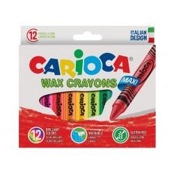 Creioane cerate Wax Crayons  Maxi Set 12culor/cutie