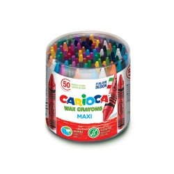 Creioane cerate Wax Crayons Maxi Set 50 buc/cutie