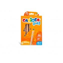 Creioane color 3 in 1 Carioca Baby 1an+  Set 6 culori /cutie