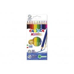 Creioane color Acquarell 12 culori Carioca