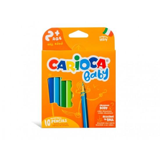 Creioane Color Carioca Baby 2ani+ Set 10 culori/cutie