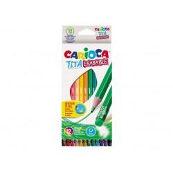 Creioane color Tita Erasable Set 12 culori/cutie