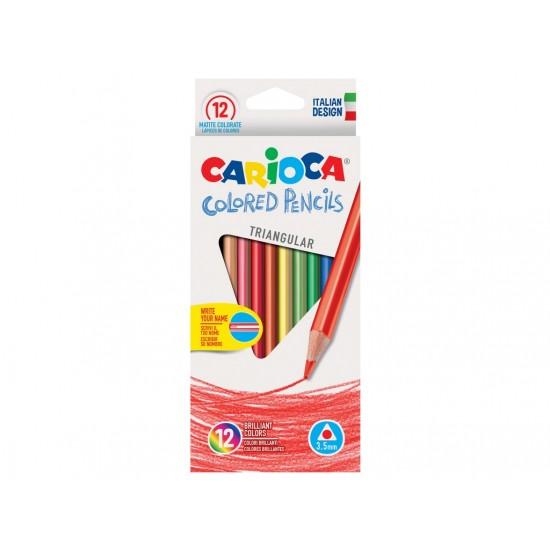 Creioane color triunghiulare Carioca Set 12 culori/cutie