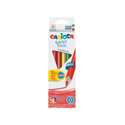 Creioane color triunghiulare Maxi Set 6 culor/cutie