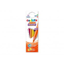 Creioane color triunghiulare Neon Set 6 culori/cutie