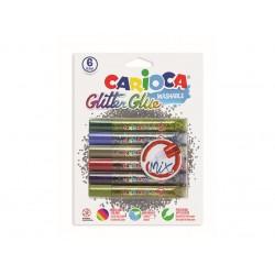 Lipici cu sclipici multicolor set 6 buc