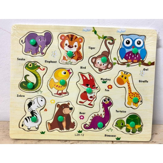 Puzzle 12 Animalute Safari