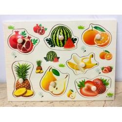 Puzzle din lemn cu Pini 7 Fructe