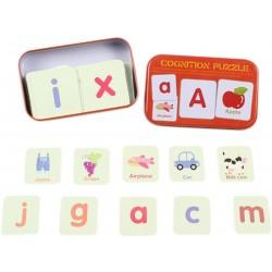 Puzzle cognitiv Litere cu imagini