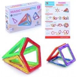 Set de constructie magnetic 3D 9 piese
