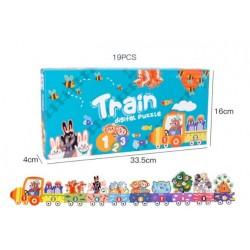 Puzzle podea Trenuletul Invatam cifrele