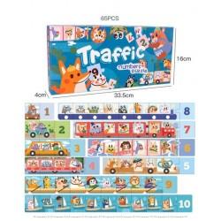 Puzzle podea Trafic Invatam cifrele