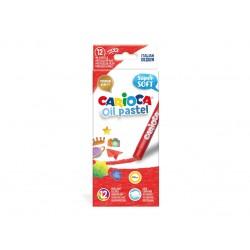 Creioane cerate Carioca Oil Pastel Maxi Set 12 buc./cutie