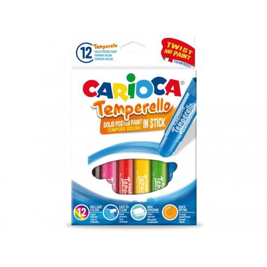 Set 12 creioane tempera solida - Temperello CARIOCA
