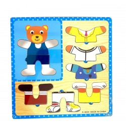 Puzzle din lemn Imbraca Ursuletul
