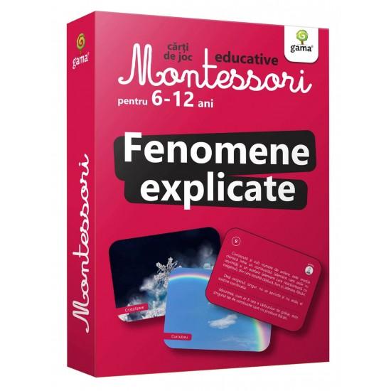 Fenomene Explicate  Carti de joc Montessori pentru 6-12 ani.