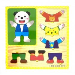 Puzzle din lemn Imbraca Ursul Polar