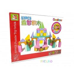 Joc 2 in 1 Puzzle si Cuburi de constructie