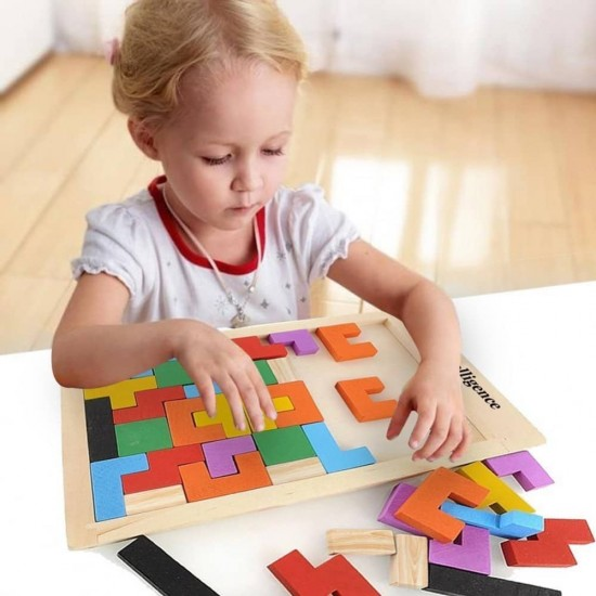 Joc din lemn Tetris piese mari