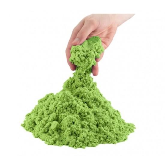 Nisip Kinetic Verde cu 8 forme