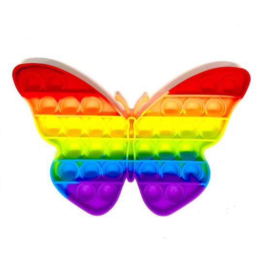 Pop it Antistres din silicon Fluture Multicolor