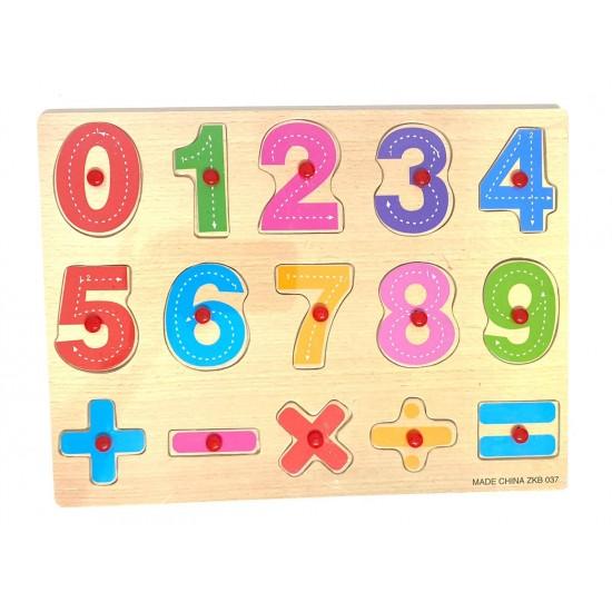 Puzzle incastru lemn Invatam sa scriem Cifrele