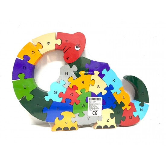 Puzzle lemn 26 piese Dino