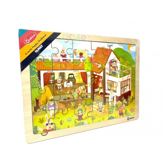 Puzzle lemn 24 piese Onshine - Family