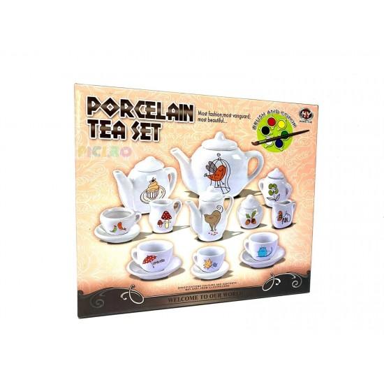 Set de Ceai din Portelan de Pictat
