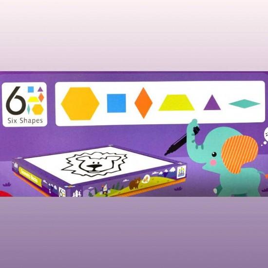 Tangram cu Tabla Magnetica si 6 forme